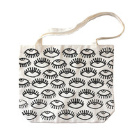 Eye Spy Print Canvas Tote
