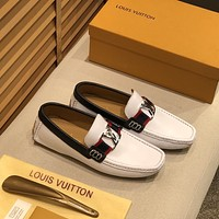 lv louis vuitton men fashion boots fashionable casual leather breathable sneakers running shoes 597