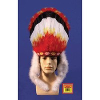 Star Power Adult Colorful Indian Native American Headdress, One Size