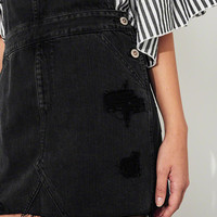 Girls Ripped Denim Skirt Overalls | Girls New Arrivals | HollisterCo.com