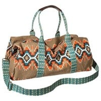 Mossimo Supply Co. Geometric Print Weekender Handbag - Tan