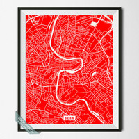 Bern Street Map, Switzerland Poster, Bern Print, Switzerland Map Print, Switzerland Decor, Home Decor, Street Map, Back To School