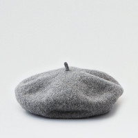 AEO Wool French Beret, Medium Heather