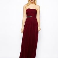ASOS Ruched Bandeau Maxi Dress