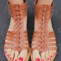 Rebellious Ways Sandals - Whiskey