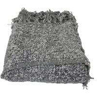 Manchester Gray Boucle Throw