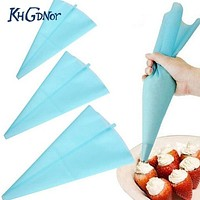 Silicone Reusable Icing Piping Bag Pastry Bag Cake Cream DIY Decor Tool Baking Tools Cake Decoration Products