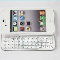 FOM Ultra-thin Wireless Bluetooth 2.0 Slide-out Back Light Keyboard for iPhone4/4S-White:Amazon:Cell Phones & Accessories