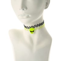 2 Pack Alien Tattoo Choker Necklaces