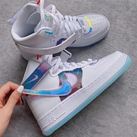 """Nike Air Force 1 High """"Have A Good Game"""" colorful laser Velcro sneakers shoes"""