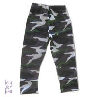 Baby Boy Camo Leggings, brown green and white Camouflage