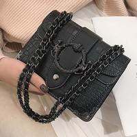 Retro joker satchel sen stone grain one-shoulder small bag