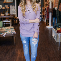 Entwined Sweater - Lilac