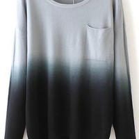 Black and White Gradient Sweater