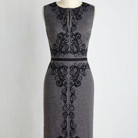 Long Sleeveless Sheath Border in the Court Dress by ModCloth