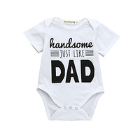 2018 ARLONEET Newborn Infant Baby Boys Girls Letter Print Romper Jumpsuit Outfits ClothesBaby Girl Summer Clothes New Born Baby