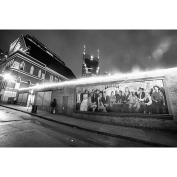 Nashville Tennessee Broadway Legends Corner Country Music Downtown Photography Landmark Canvas black and white Print Wall Art The Ryman