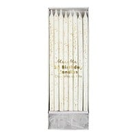 Gold Glitter Party Candles