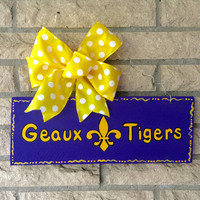 LSU Geaux Tigers Recycled Reclaimed Pallet Wood Sign
