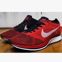"""NIKE"" Trending Fashion Casual Sports Shoes Red knit"