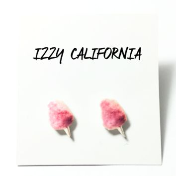 Cotton Candy Studs