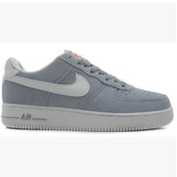 NIKE Women Men Running Sport Casual Shoes Air force low tops Grey