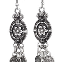 Flower Turkish Coin Earrings