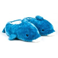 Blue Dolphin Animal Slippers