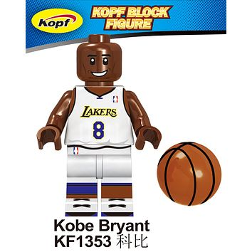 Block Figure NBA Lakers Kobe Bryant #8 White Jersey