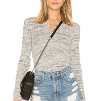 MONROW Thermal Long Sleeve Top in Black Natural | REVOLVE