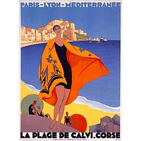 French Riviera Beach Wood Sign