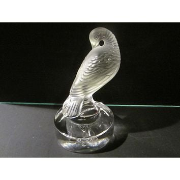 Lalique France Frost Signature Bird Statue