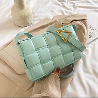 Weave Flap Bags Square Crossbody Bag High Quality Pu Leather Women's Designer Handbag Travel Shoulder Messenger Bag