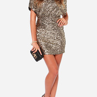 Slim Full Sequined Halter Slit Sexy Club Dress