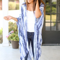 It's Perfect Long Kimono - Blue