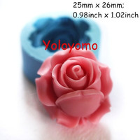 Rose / Flower 26mm Silicone Mold for Fondant, Cake Decorating Chocolate Cookie Soap JM-04-00022 (Size: 0, Color: Blue)