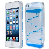 Appbox 3326874 Flowing Liquid Swimming Magic Maze Transparent Case for Iphone 5/ 5s - Rose
