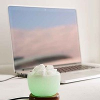 Himalayan Salt Bowl Of Ice Mini Lamp- Purple One