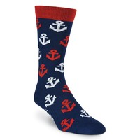 Anchors Crew Socks