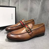 Gucci2021 Men Fashion Boots fashionable Casual leather Breathable Sneakers Running Shoes06280gh