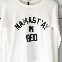 Namastay In Bed Sweatshirt (Ivory)