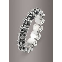 925 Sterling Silver Skull Band Ring