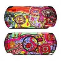 The Wall Design Protective Decal Skin Sticker for Sony PlayStation PSP Street E1004 Handheld Game Console