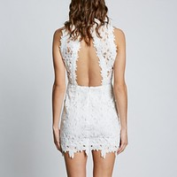 Cotton Candy LA - Lace Me Up Dress with Open Back in More Colors