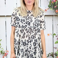 Leopard Sublimation Short Sleeve Top {Ivory} EXTENDED SIZES