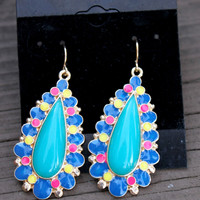 Teal Bubble Earrings