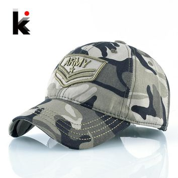 Trendy Winter Jacket Camouflage Snapback Baseball Caps For Men And Women ARMY Embroidery Tactical Hats Outdoor Sports Cotton Bones Camo Hat Casquette AT_92_12
