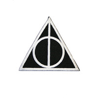 Deathly Hallows Iron On Patch Embroidery Sewing DIY Customise Denim Cotton Harry Potter JK Rowling