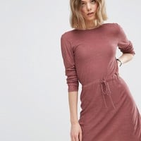 ASOS Dress In Knit With Tie Waist Detail