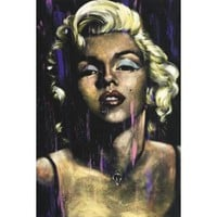 Candle In The Wind by Fishwick Marilyn Monroe Art Print Poster 24x36 inch - Walmart.com